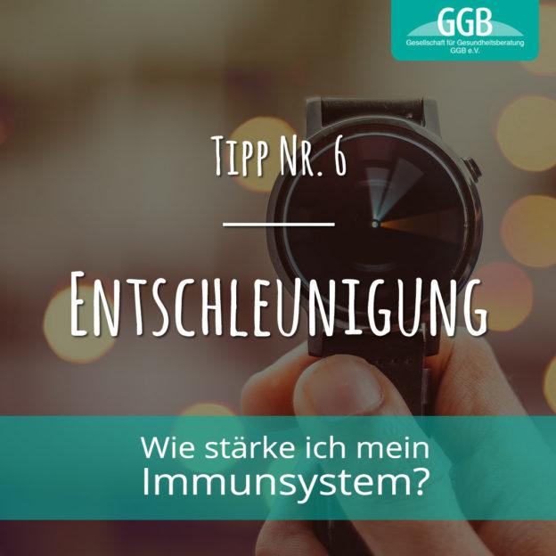 Corona Immunsystem Tipp06 Entschleunigung