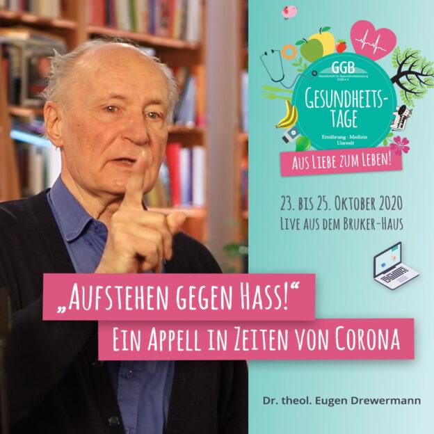 """Eugen Drewermann """"Aufstehen gegen Hass"""""""