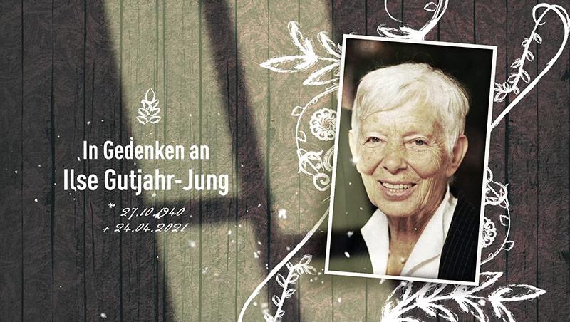 In Gedenken an Ilse Gutjahr-Jung